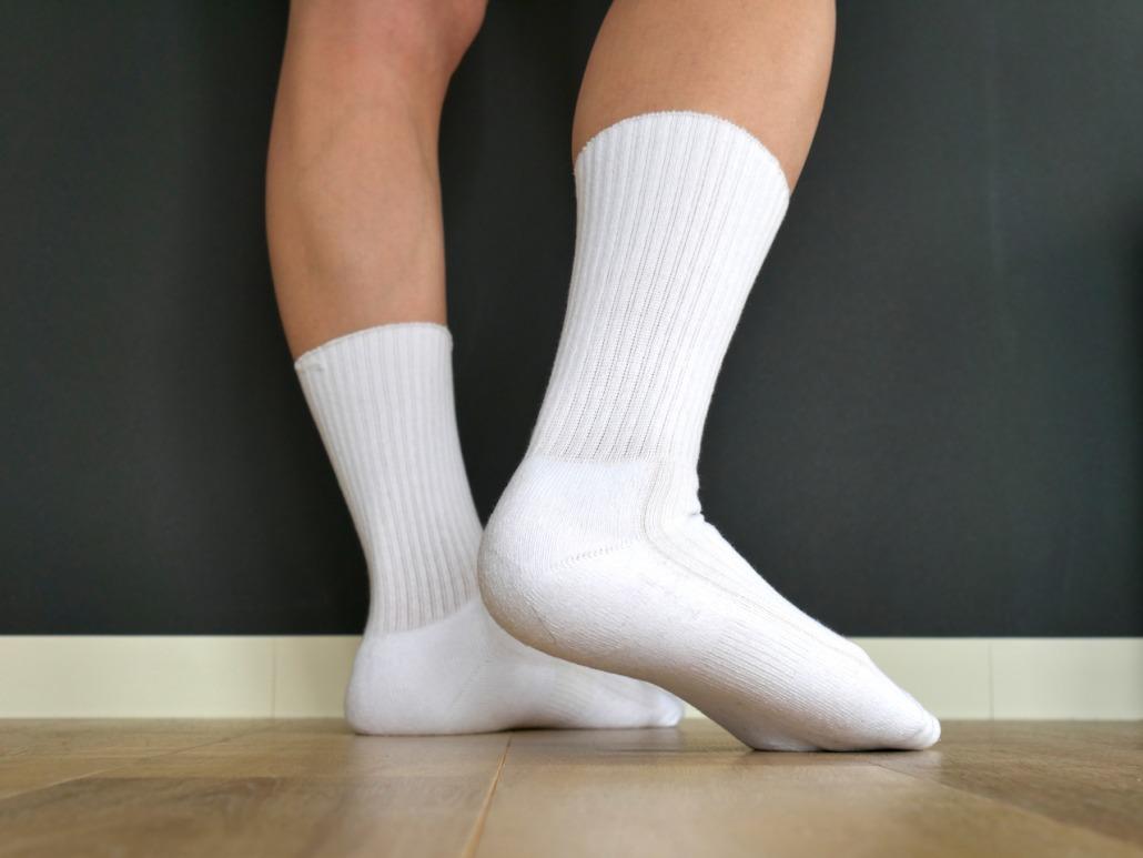 底パイルと足の甲サポート付きだから履き心地がいい