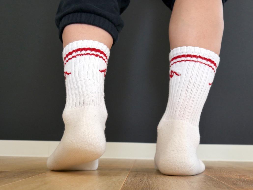 厚手靴下ならかかとのホールド感があって靴擦れしにくいのでおすすめ